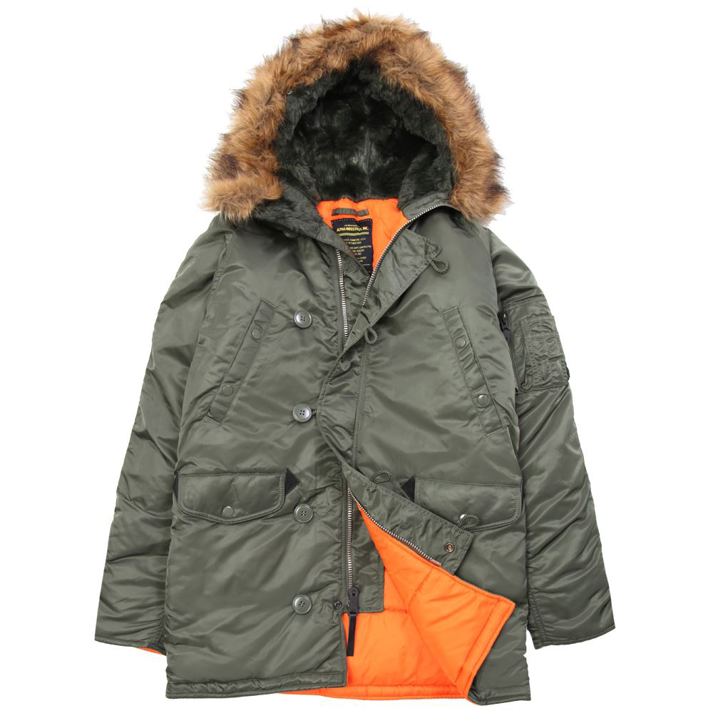 Куртка аляска Alpha N-3B Slim Fit Parka